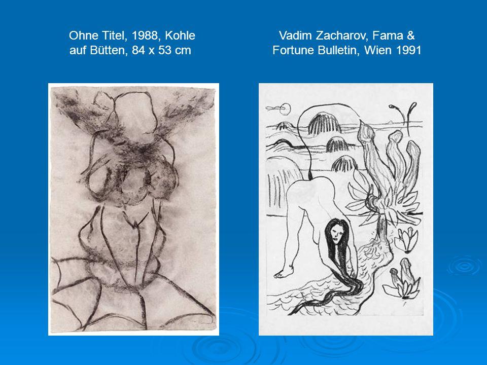 Herbert Brandl: Ohne Titel, 2000, Aquarell auf Papier, 169 x 149 cm Dieses Aquarell ist expressionistisch gemalt. Klare Gegenstände oder Lebewesen sin