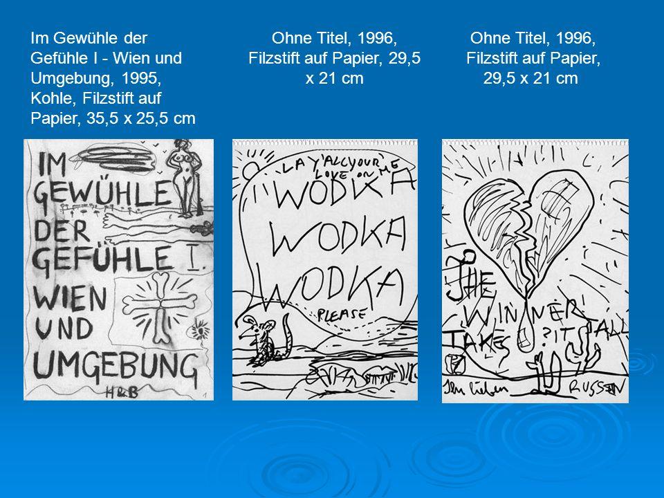 Ohne Titel, 1988, Kohle auf Bütten, 84 x 53 cm Vadim Zacharov, Fama & Fortune Bulletin, Wien 1991