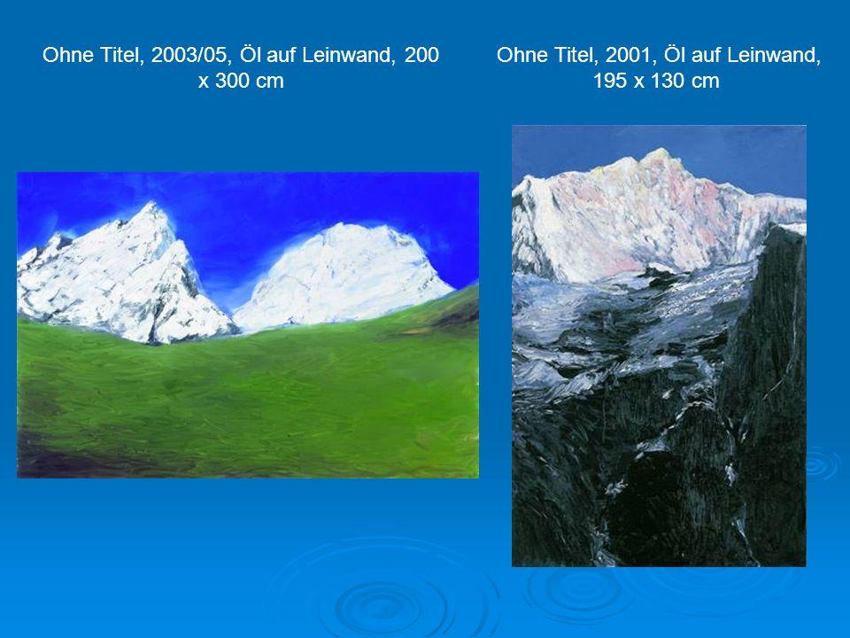 Ohne Titel, 2000, Öl auf Leinwand, 110 x 90 cm Ohne Titel, 2000, Öl auf Leinwand, 173 x 74 cm Ohne Titel, 2000, Öl auf Leinwand, 110 x 90 cm