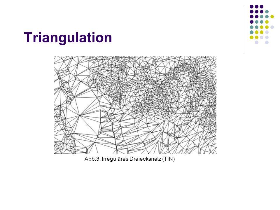 Triangulation Abb.3: Irreguläres Dreiecksnetz (TIN)