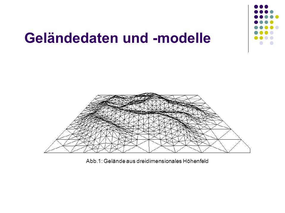 Geländedaten und -modelle Abb.1: Gelände aus dreidimensionales Höhenfeld
