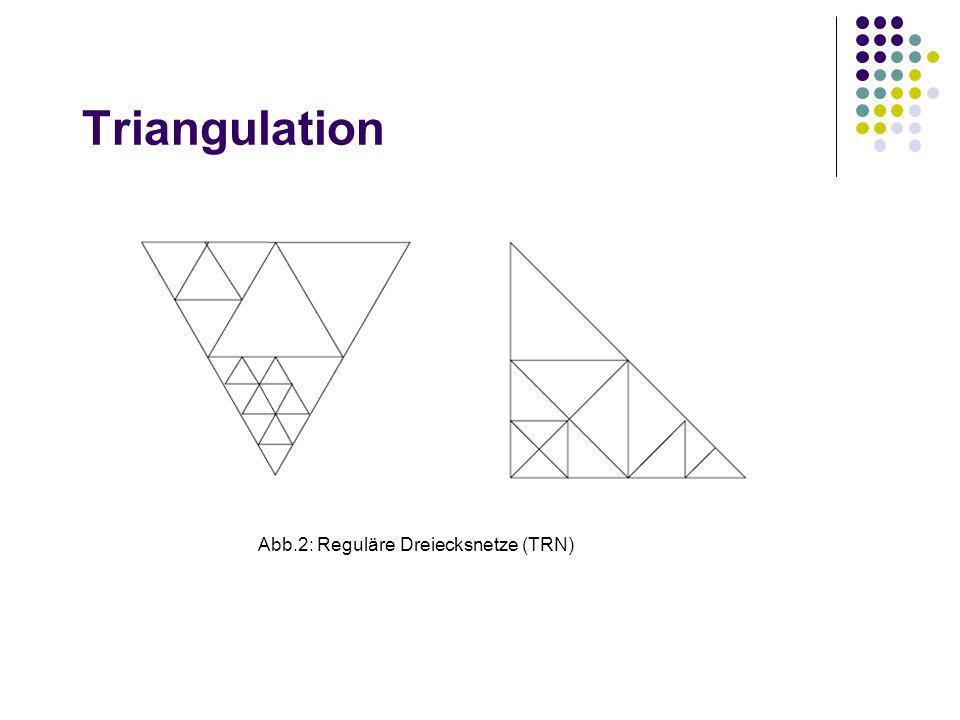 Triangulation Abb.2: Reguläre Dreiecksnetze (TRN)