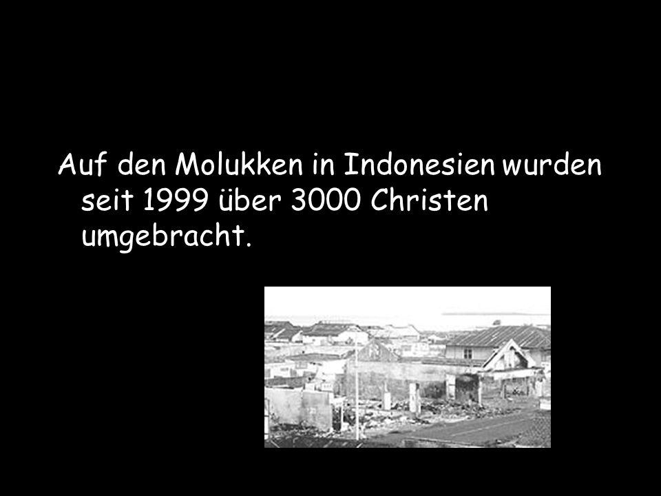 Auf den Molukken in Indonesien wurden seit 1999 über 3000 Christen umgebracht.