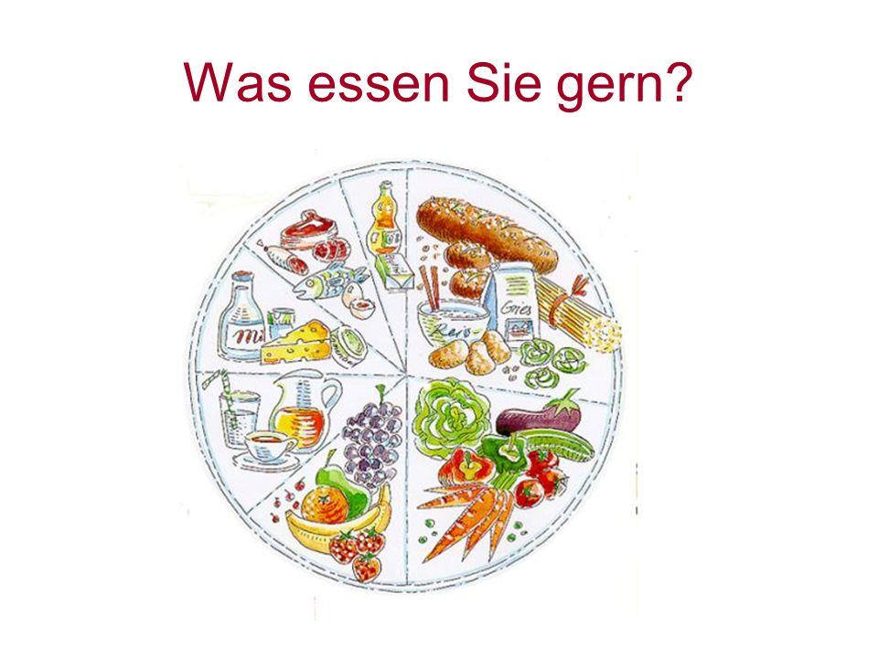 Was essen Sie gern?