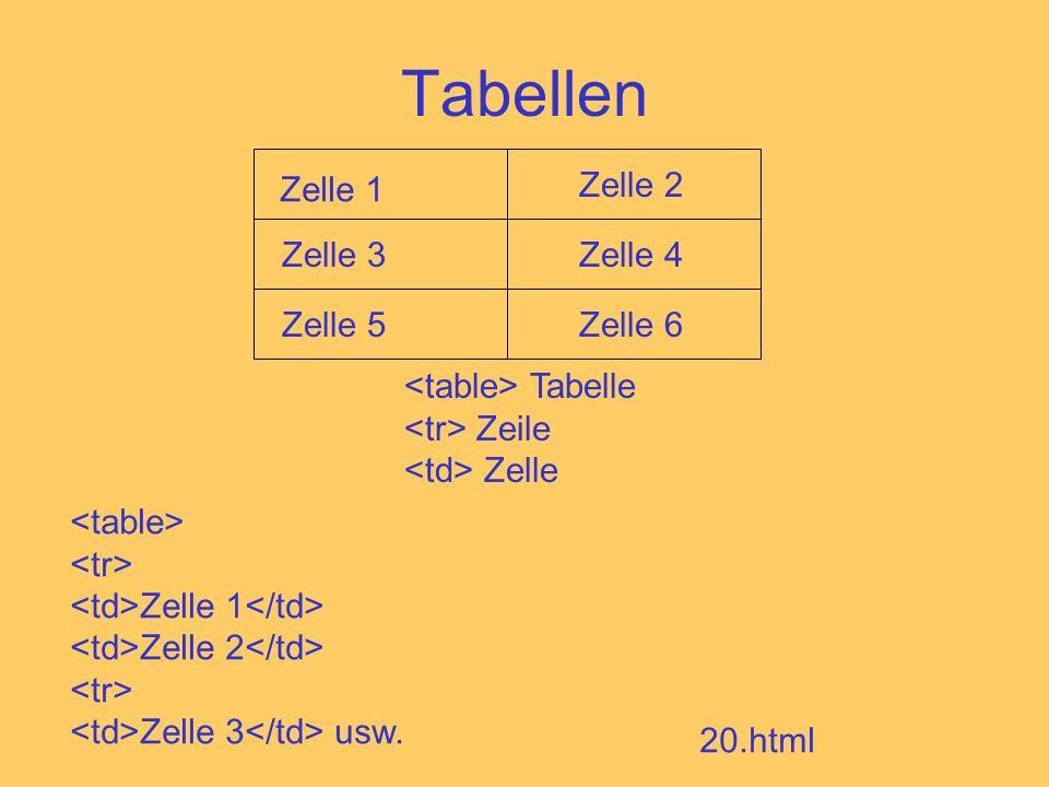 Tabellen Zelle 5 Zelle 1 Zelle 2 Zelle 3Zelle 4 Zelle 6 Tabelle Zeile Zelle Zelle 1 Zelle 2 Zelle 3 usw.