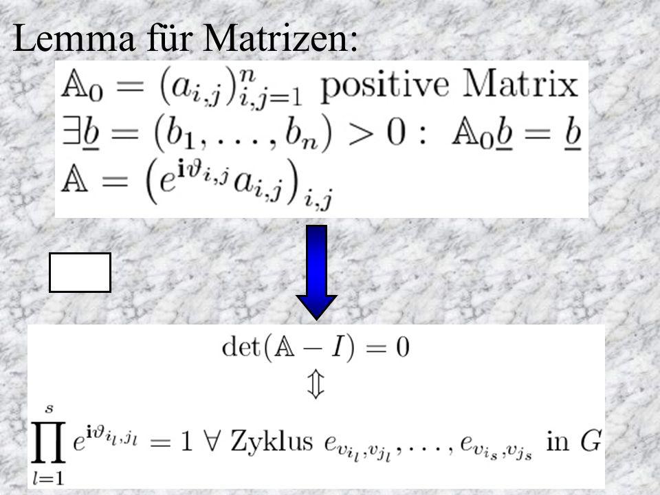 Lemma für Matrizen: