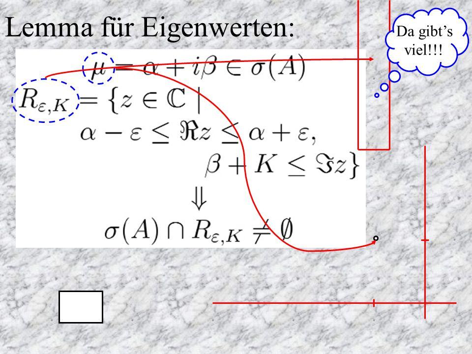 Lemma für Eigenwerten: Da gibts viel!!!
