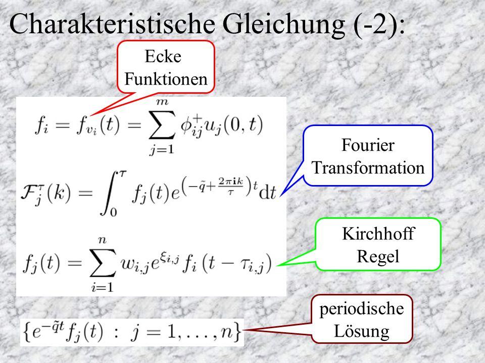 Charakteristische Gleichung (-2): Kirchhoff Regel Fourier Transformation Ecke Funktionen periodische Lösung