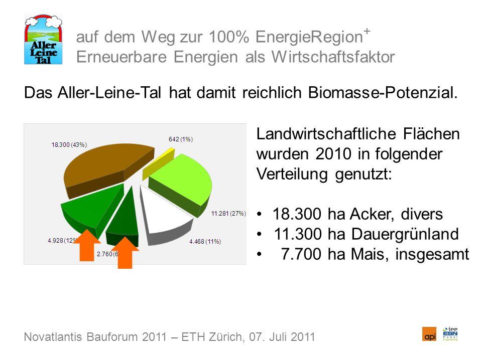 auf dem Weg zur 100% EnergieRegion + Erneuerbare Energien als Wirtschaftsfaktor Das Aller-Leine-Tal hat damit reichlich Biomasse-Potenzial.