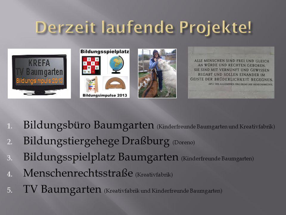 1. Bildungsbüro Baumgarten (Kinderfreunde Baumgarten und Kreativfabrik) 2.