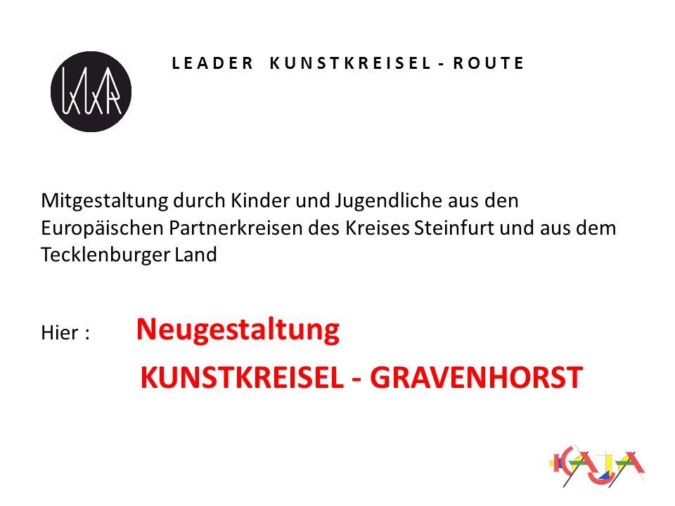 L E A D E R K U N S T K R E I S E L - R O U T E Mitgestaltung durch Kinder und Jugendliche aus den Europäischen Partnerkreisen des Kreises Steinfurt u
