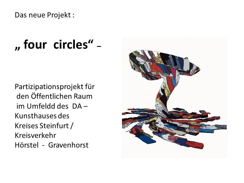 Das neue Projekt : four circles – Partizipationsprojekt für den Öffentlichen Raum im Umfeldd des DA – Kunsthauses des Kreises Steinfurt / Kreisverkehr