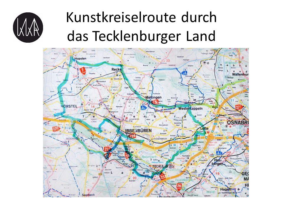 Kunstkreiselroute durch das Tecklenburger Land touristische Route mit Kunstkreiseln als Wegmarken