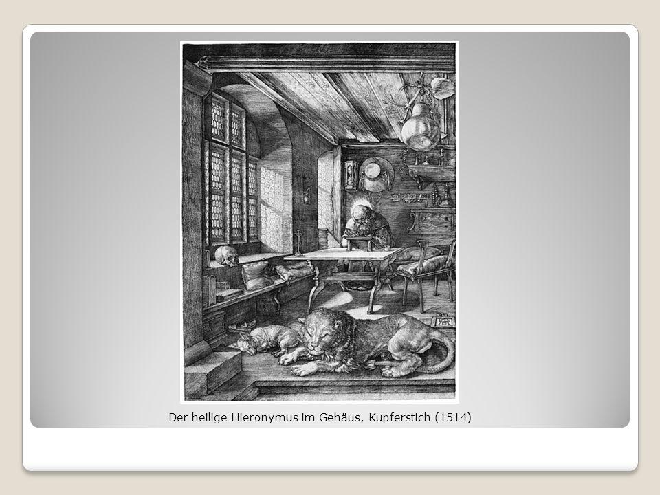 Der heilige Hieronymus im Gehäus, Kupferstich (1514)
