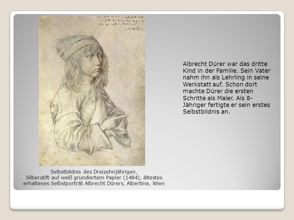 Albrecht Dürer war das dritte Kind in der Familie. Sein Vater nahm ihn als Lehrling in seine Werkstatt auf. Schon dort machte Dürer die ersten Schritt