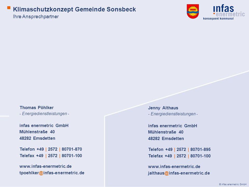 © infas enermetric GmbH Jenny Althaus - Energiedienstleistungen - infas enermetric GmbH Mühlenstraße 40 48282 Emsdetten Telefon +49 | 2572 | 80701-895