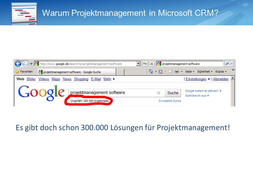 Warum Projektmanagement im CRM System.