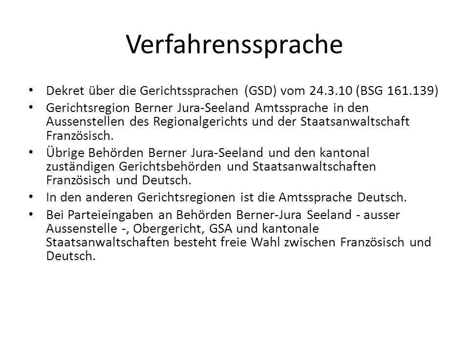 Verfahrenssprache Übersetzung (Art.