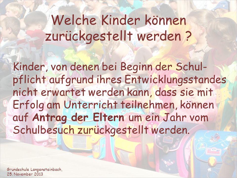 Stundenplan der 1a Grundschule Langensteinbach, 25.
