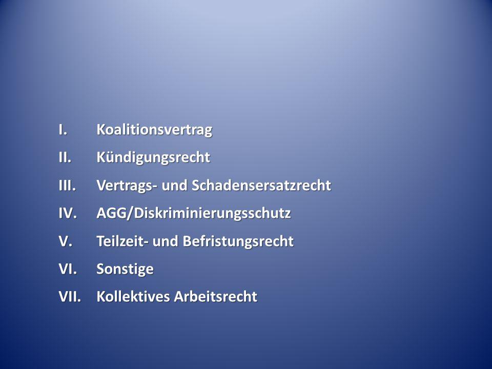 I. Koalitionsvertrag