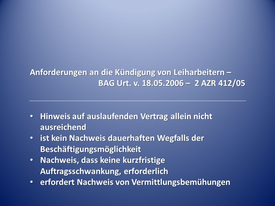 Einsatz von Leiharbeitnehmern – Zustimmungsverweigerung (vorübergehend) – BAG Beschl.