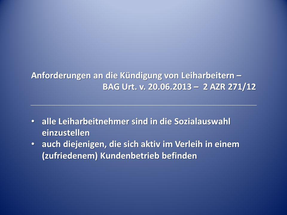 Einsatz von Leiharbeitnehmern – Größe des zu wählenden Betriebsrats – BAG Beschl.