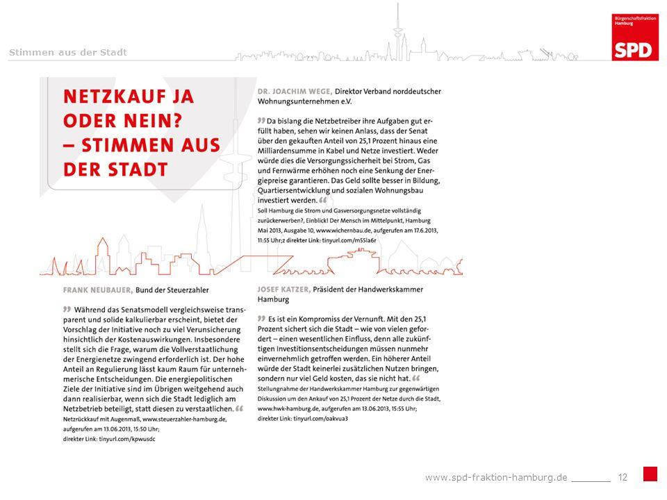 Stimmen aus der Stadt www.spd-fraktion-hamburg.de _______12