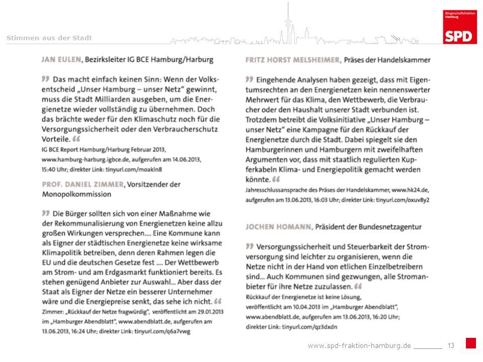 www.spd-fraktion-hamburg.de _______13 Stimmen aus der Stadt