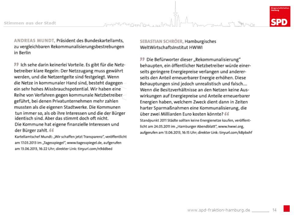 www.spd-fraktion-hamburg.de _______14 Stimmen aus der Stadt