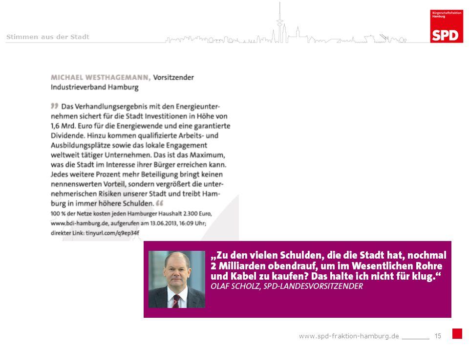 www.spd-fraktion-hamburg.de _______15 Stimmen aus der Stadt