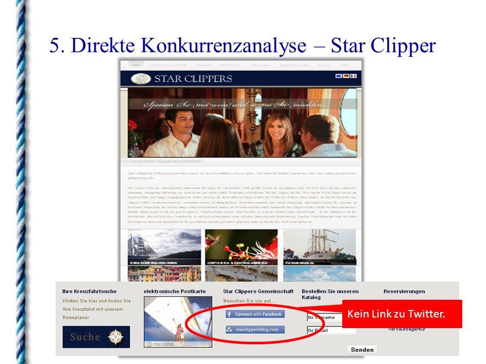 5. Direkte Konkurrenzanalyse – Star Clipper Kein Link zu Twitter.