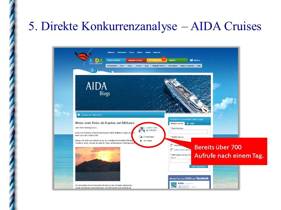 5.Direkte Konkurrenzanalyse – TUI Cruises Alle Web 2.0 Applikationen auf einer Leiste.