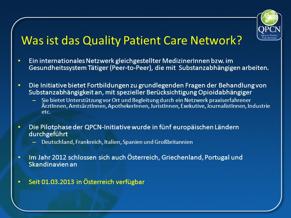 Was ist das Quality Patient Care Network.