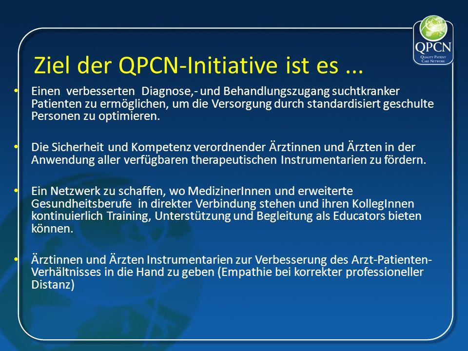 Ziel der QPCN-Initiative ist es... Einen verbesserten Diagnose,- und Behandlungszugang suchtkranker Patienten zu ermöglichen, um die Versorgung durch
