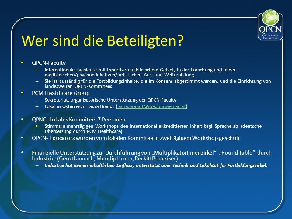 Struktur der QPCN-Initiative in Österreich QPCN- Faculty Prof.