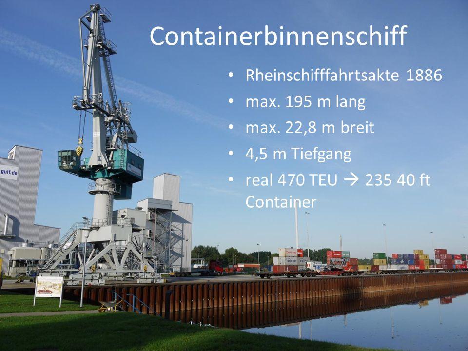 Containerbinnenschiff Rheinschifffahrtsakte 1886 max.
