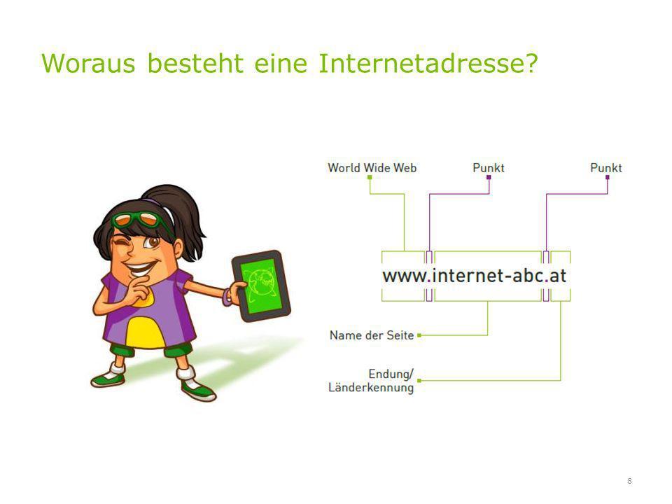 Woraus besteht eine Internetadresse? 8