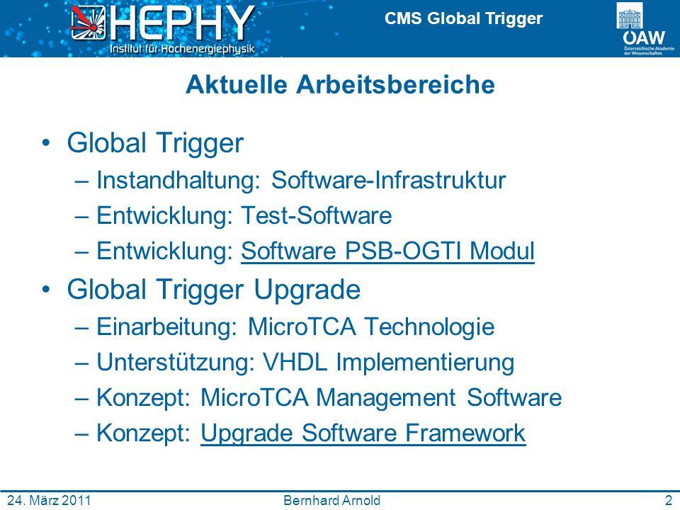 CMS Global Trigger Bernhard Arnold24.