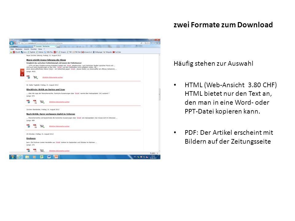 Da es sich um einen NZZ-Artikel handelt, gibt es kein PDF, sondern nur eine html-Datei.