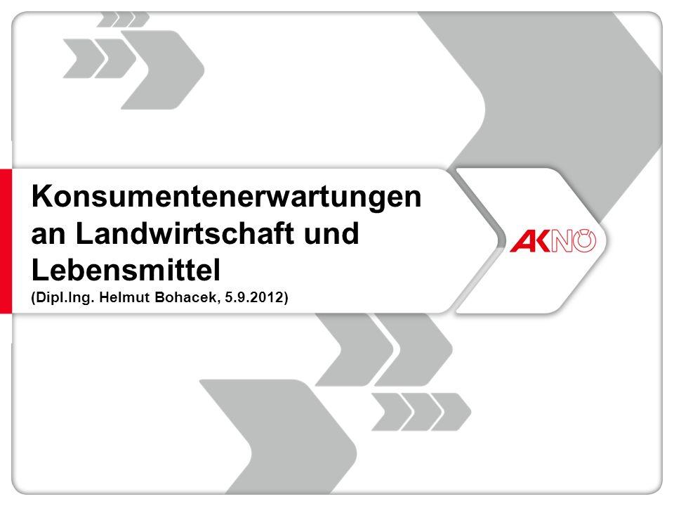 Konsumentenerwartungen an Landwirtschaft und Lebensmittel (Dipl.Ing. Helmut Bohacek, 5.9.2012)