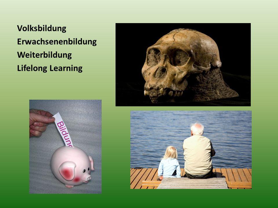Volksbildung Erwachsenenbildung Weiterbildung Lifelong Learning