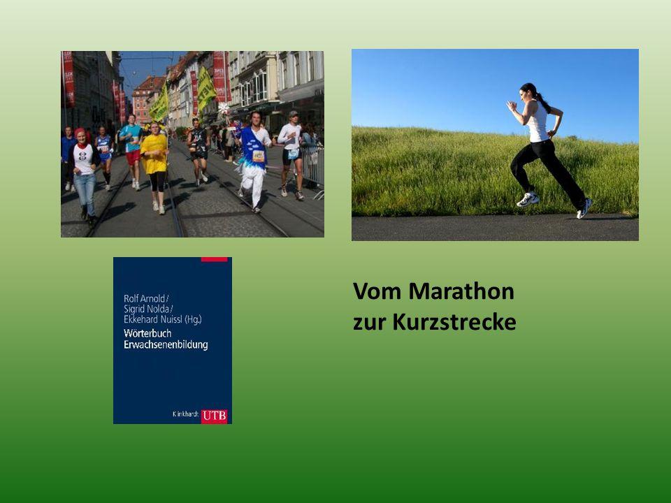 Vom Marathon zur Kurzstrecke