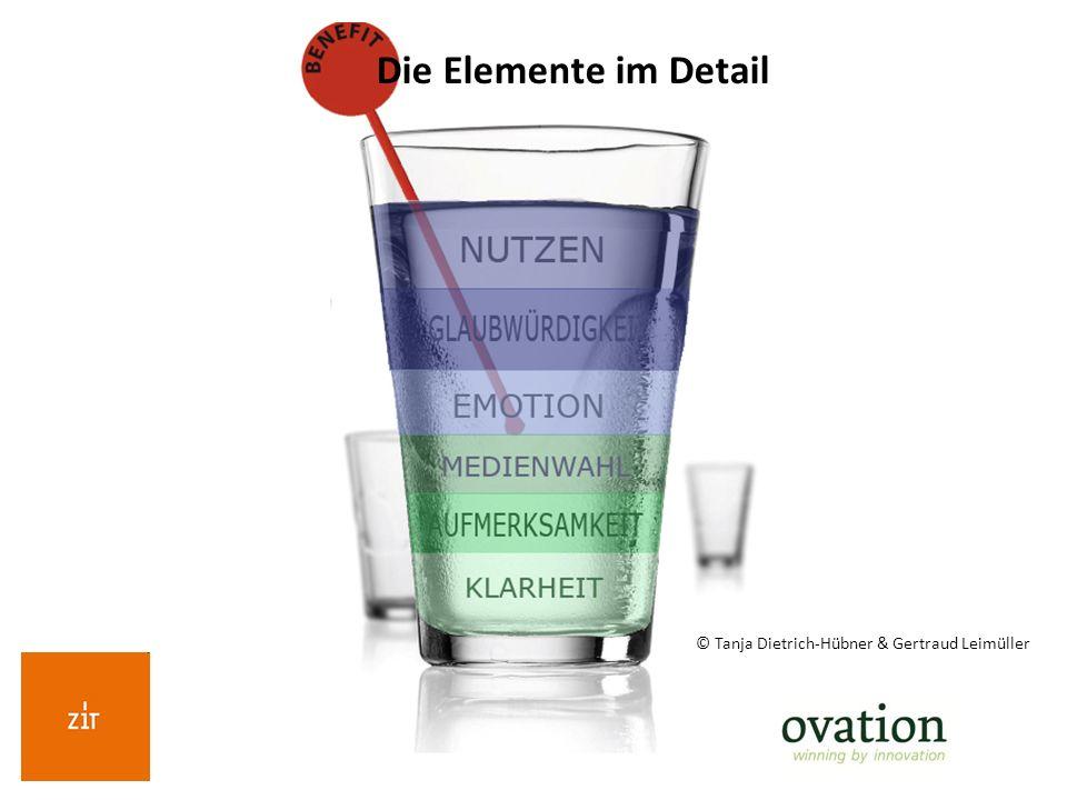 © Tanja Dietrich-Hübner & Gertraud Leimüller Die Elemente im Detail