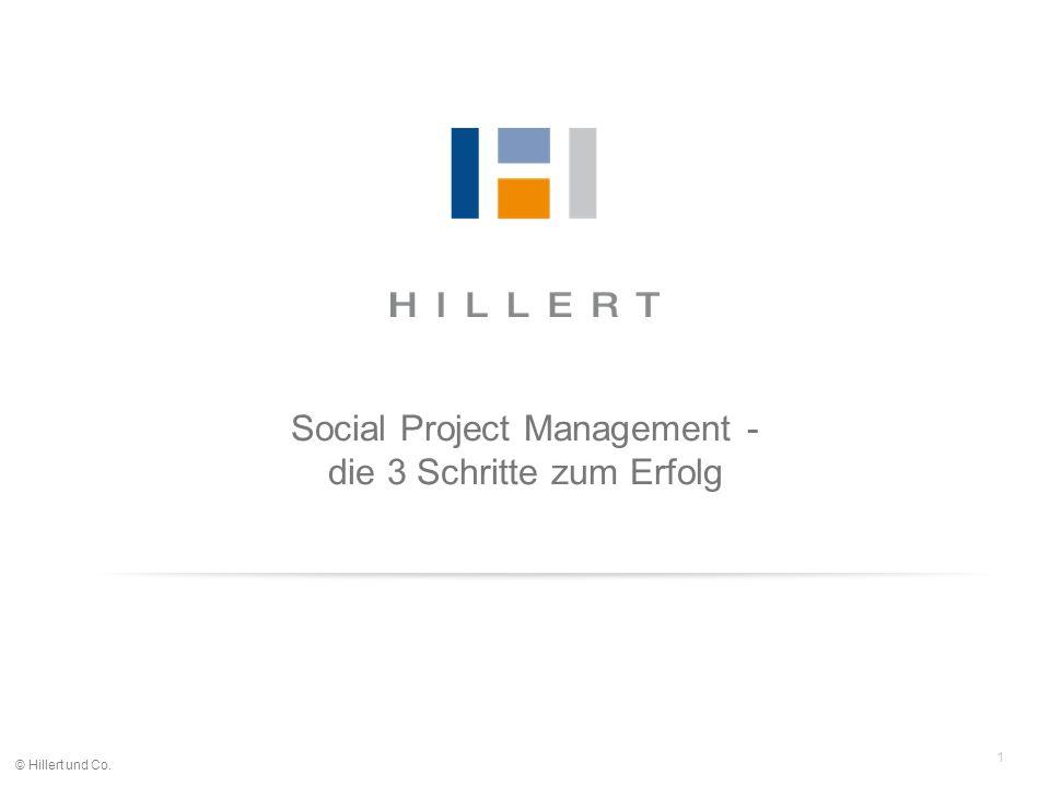 1 © Hillert und Co. Social Project Management - die 3 Schritte zum Erfolg