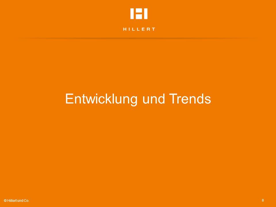 Entwicklung und Trends 8 © Hillert und Co.