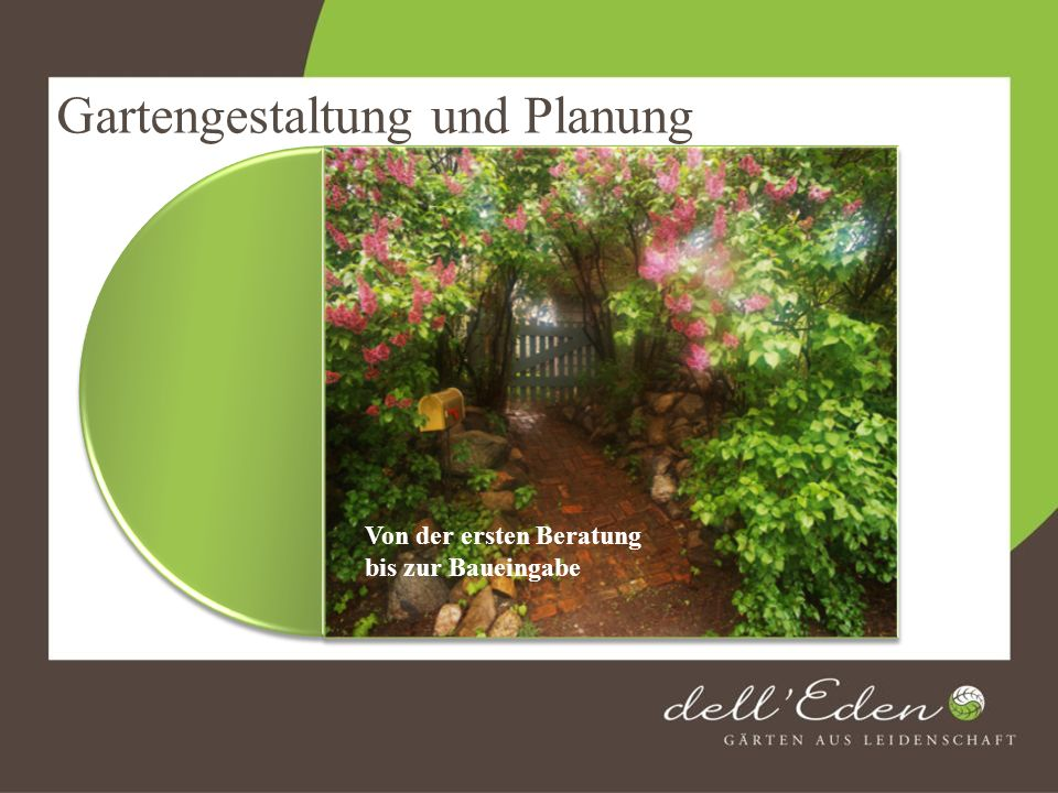 Garten- und Landschaftsbau Mit neuster Technik bauen wir Ihnen Gärten in allen Größen.