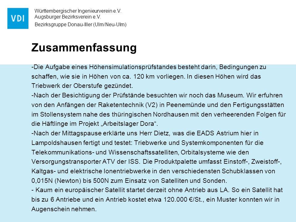 Württembergischer Ingenieurverein e.V.Augsburger Bezirksverein e.V.