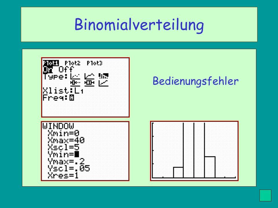 Bedienungsfehler Binomialverteilung