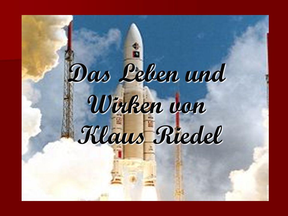 Das Leben und Wirken von Klaus Riedel