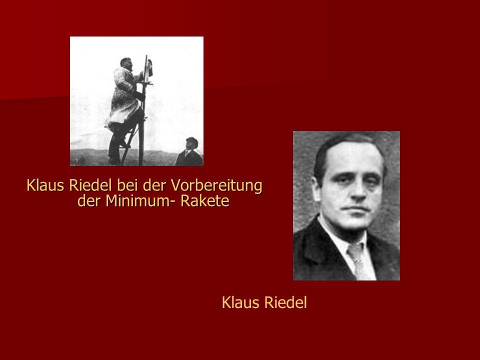 Klaus Riedel bei der Vorbereitung der Minimum- Rakete Klaus Riedel